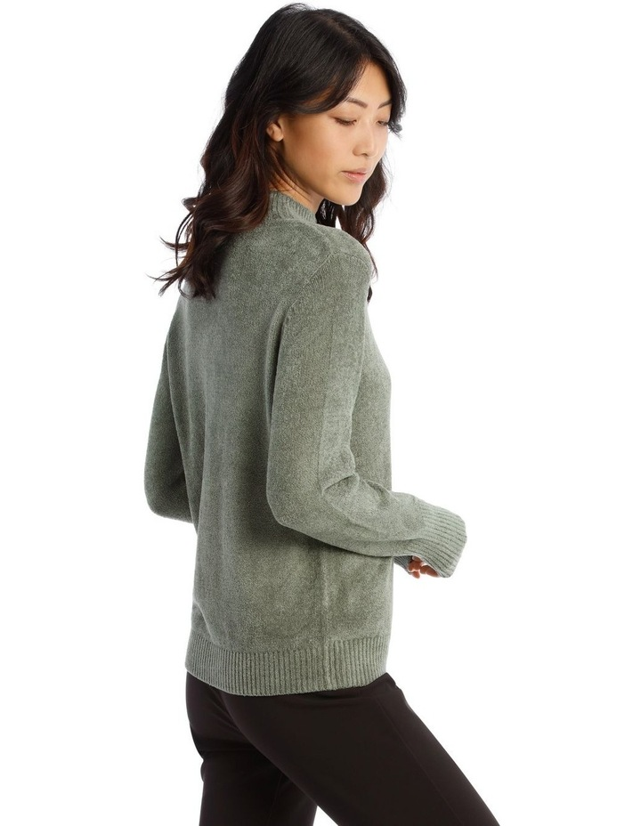 Fine Roll Neck Chenille Sweater image 2