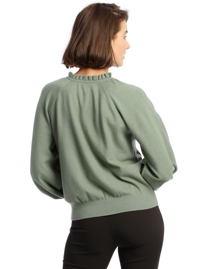 Sweater With Ruffle Neck And Ballon Sleeve image 3