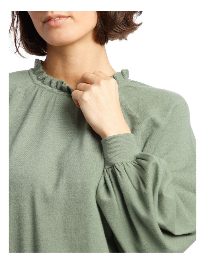 Sweater With Ruffle Neck And Ballon Sleeve image 4