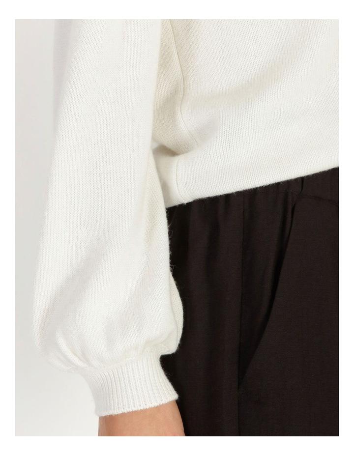 Vee Neck Puff Sleeve Knit image 5
