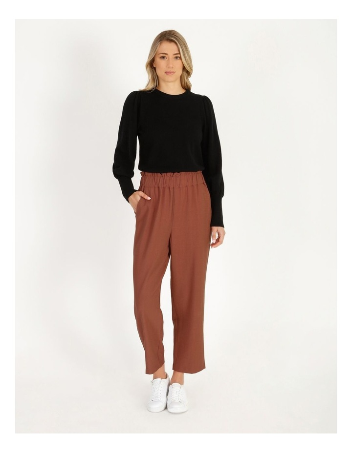 Fine Gauge Puff-Sleeve Sweater image 2