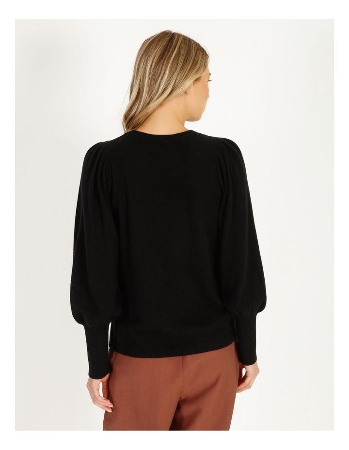 Fine Gauge Puff-Sleeve Sweater image 4