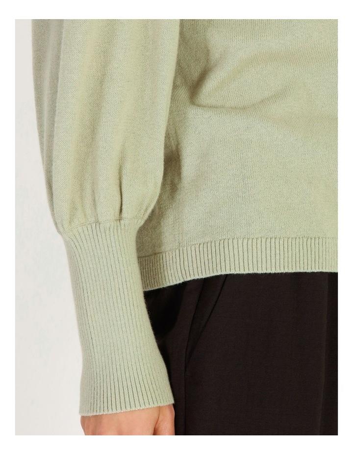 Fine Gauge Puff Sleeve Sweater image 5