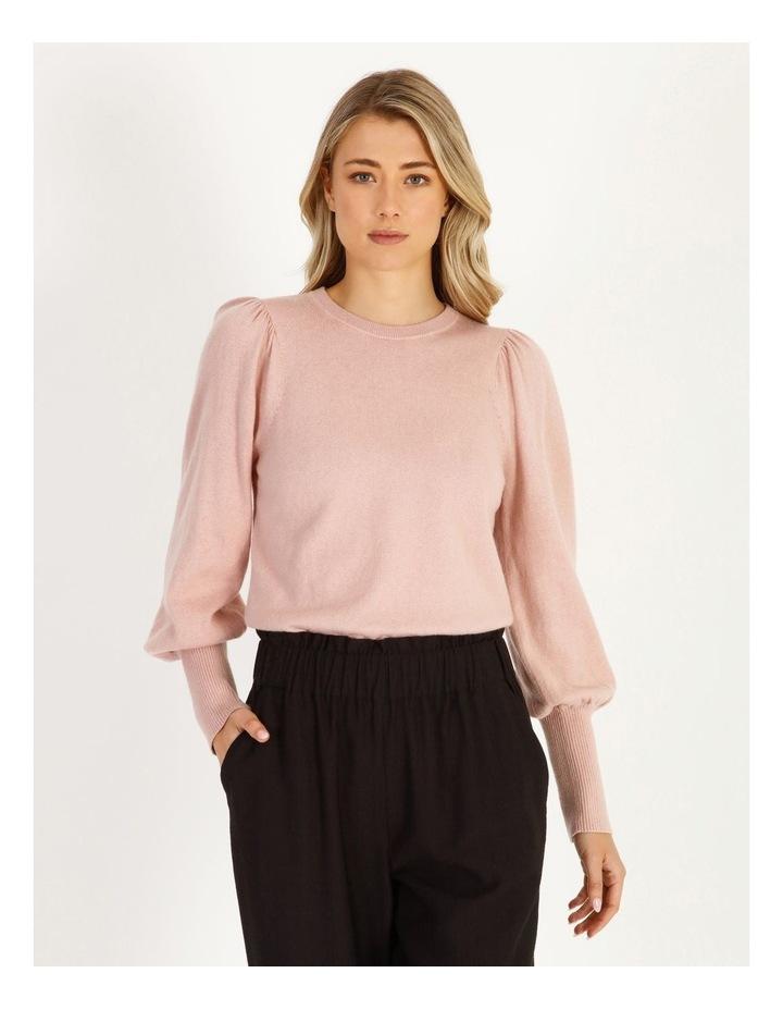 Fine Gauge Puff-Sleeve Sweater image 1
