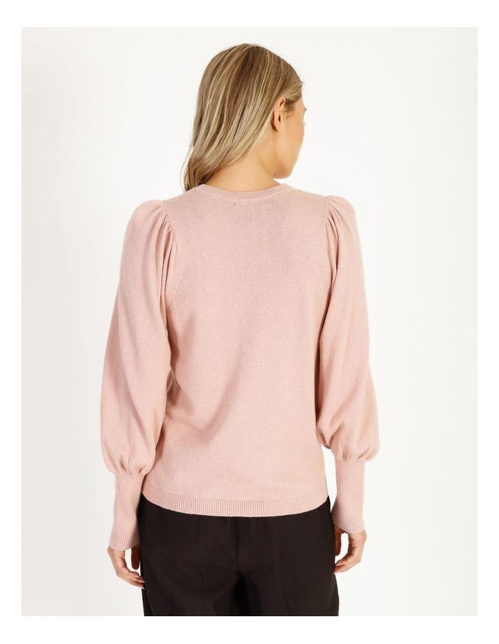 Fine Gauge Puff-Sleeve Sweater image 3