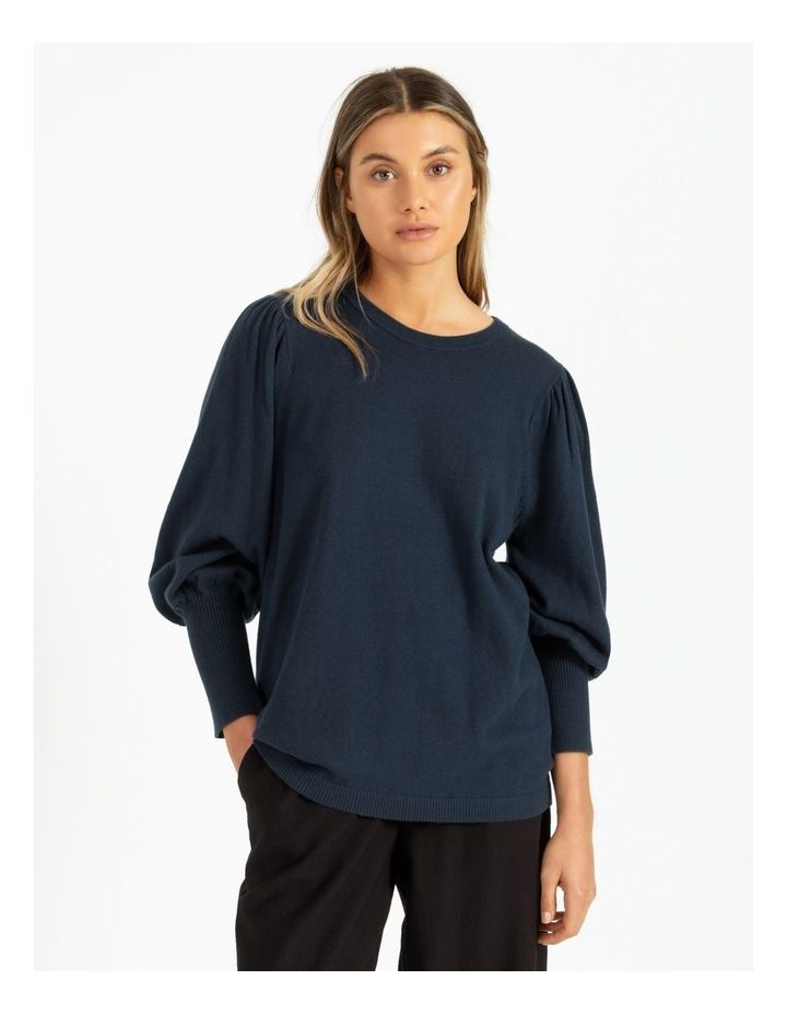 Fine Gauge Puff Sleeve Sweater image 1