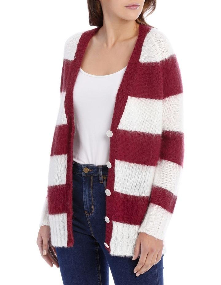 Cardigan Stripe Fluffy image 1