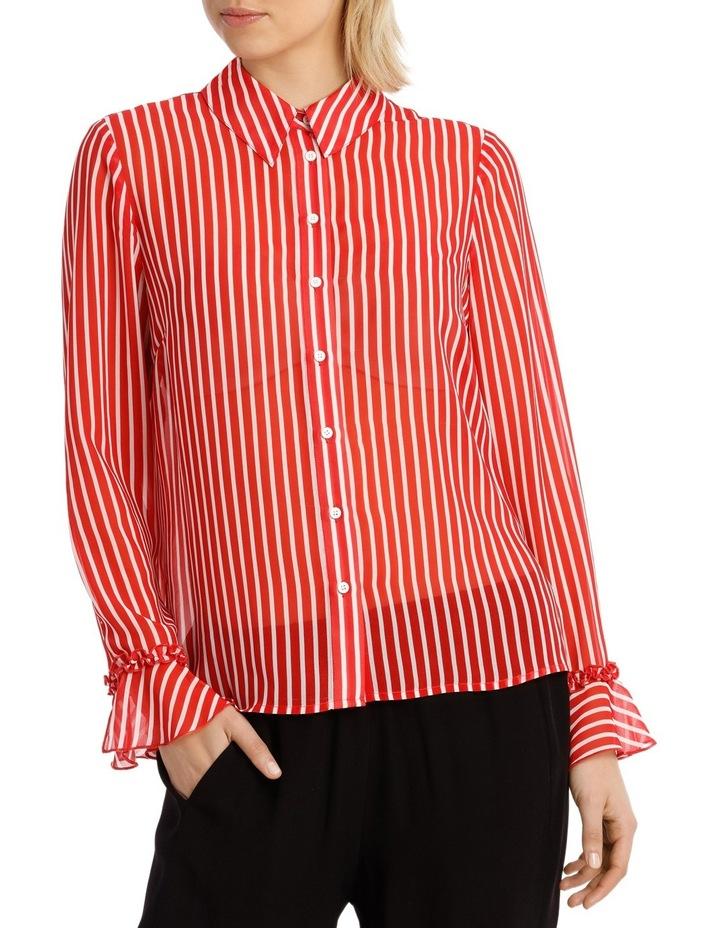 Shirt Stripe With Ruffle Cuff image 1