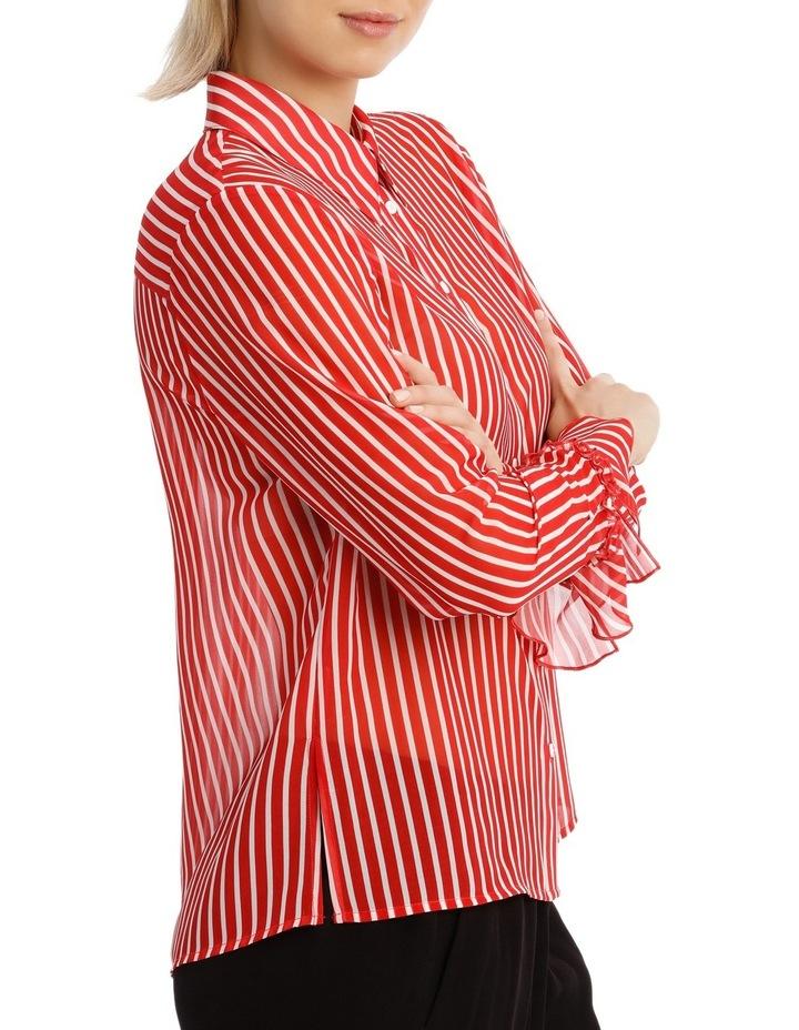 Shirt Stripe With Ruffle Cuff image 2