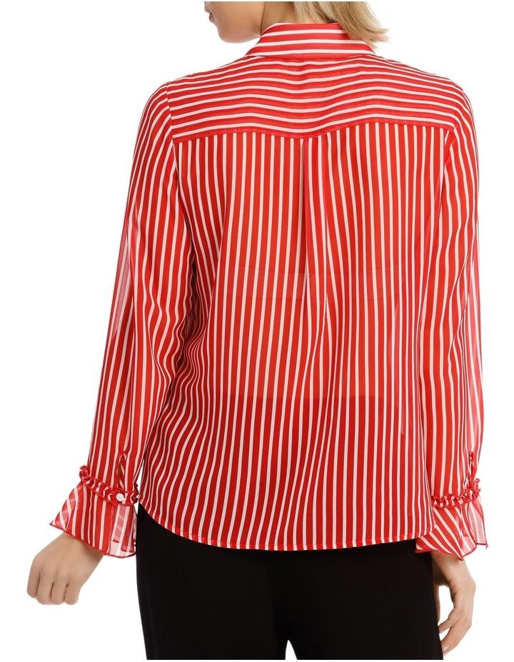 Shirt Stripe With Ruffle Cuff image 3