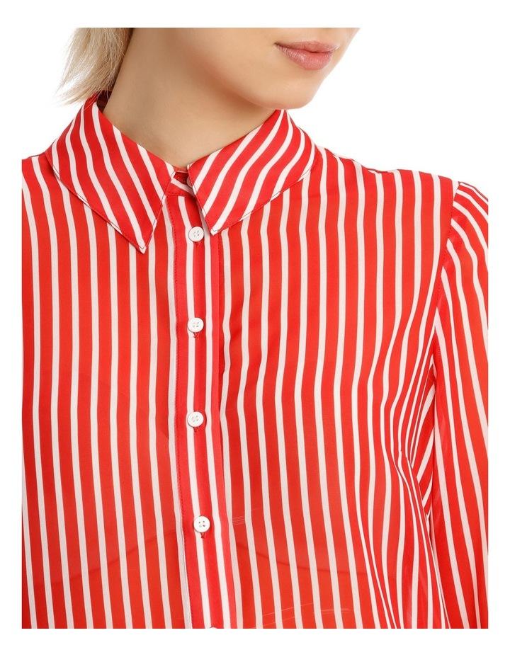Shirt Stripe With Ruffle Cuff image 4