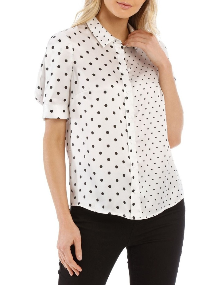 Spliced Dot Short Sleeve Shirt image 1