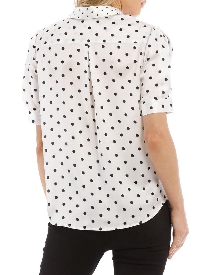 Spliced Dot Short Sleeve Shirt image 3