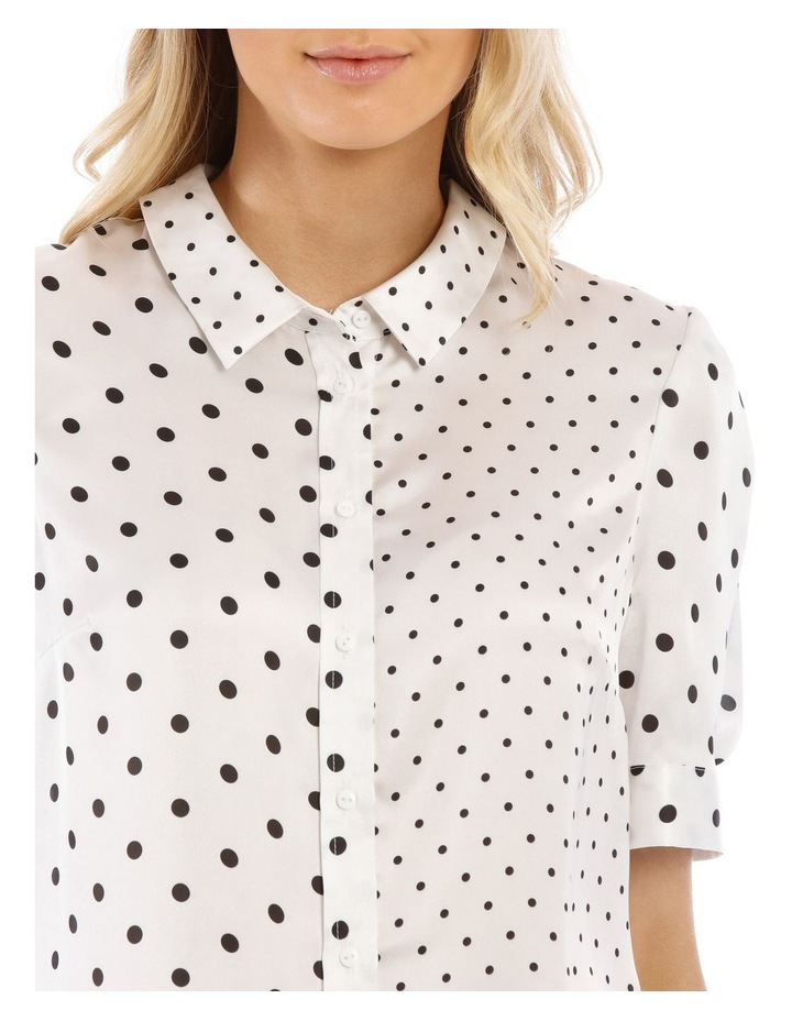 Spliced Dot Short Sleeve Shirt image 4