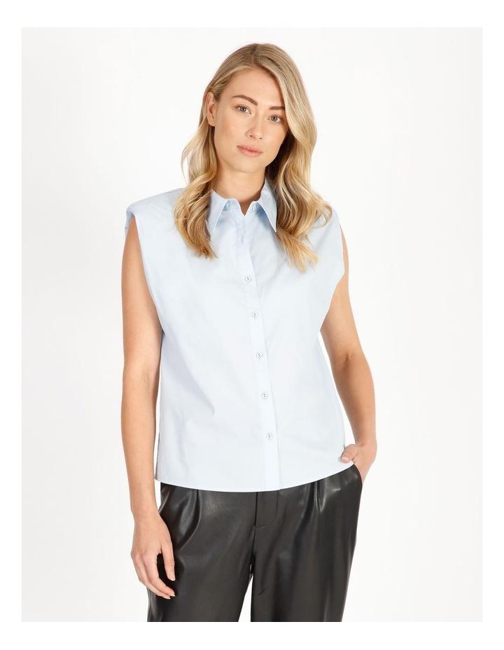 Organic Cotton Sleeveless Padded Shoulder Shirt image 1