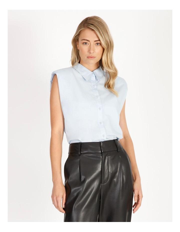 Organic Cotton Sleeveless Padded Shoulder Shirt image 2