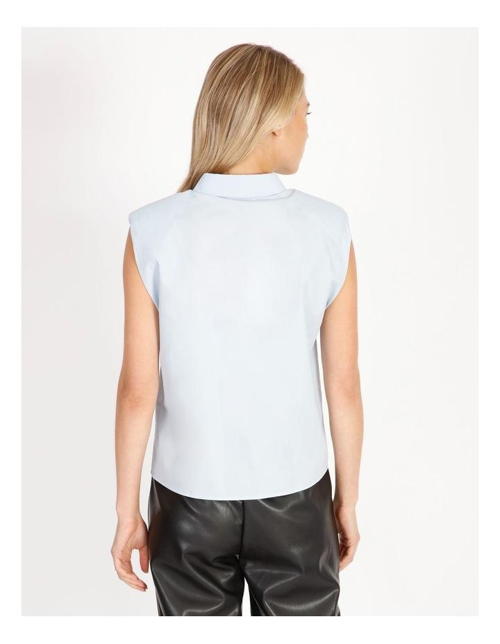 Organic Cotton Sleeveless Padded Shoulder Shirt image 4