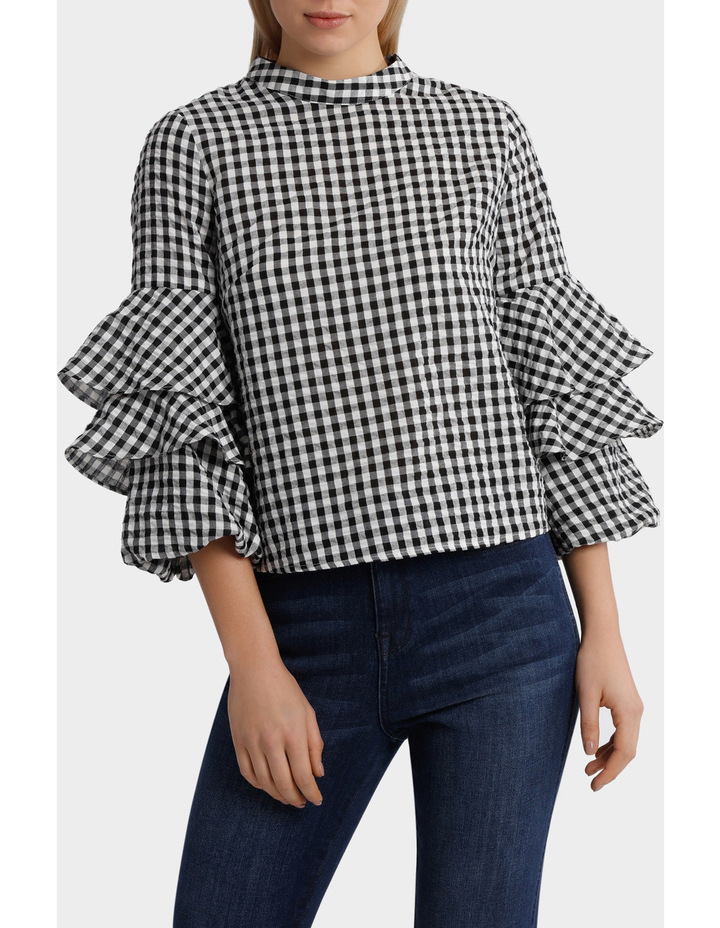 Top gingham image 1