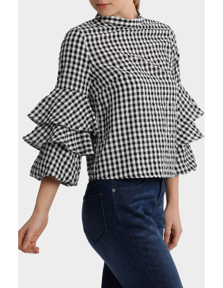 Top gingham image 2