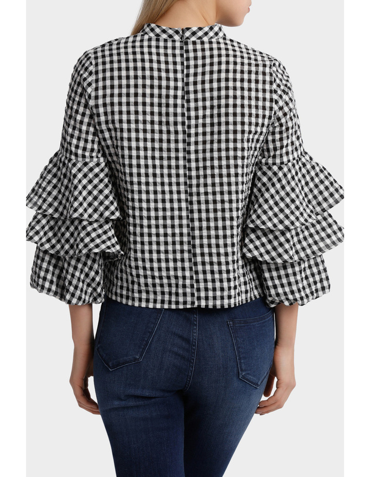 Top gingham image 3