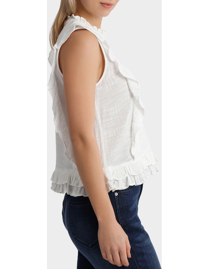 Top with self colour embroidery image 2