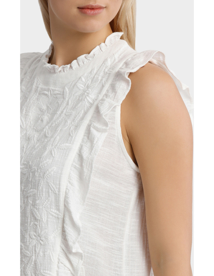 Top with self colour embroidery image 4