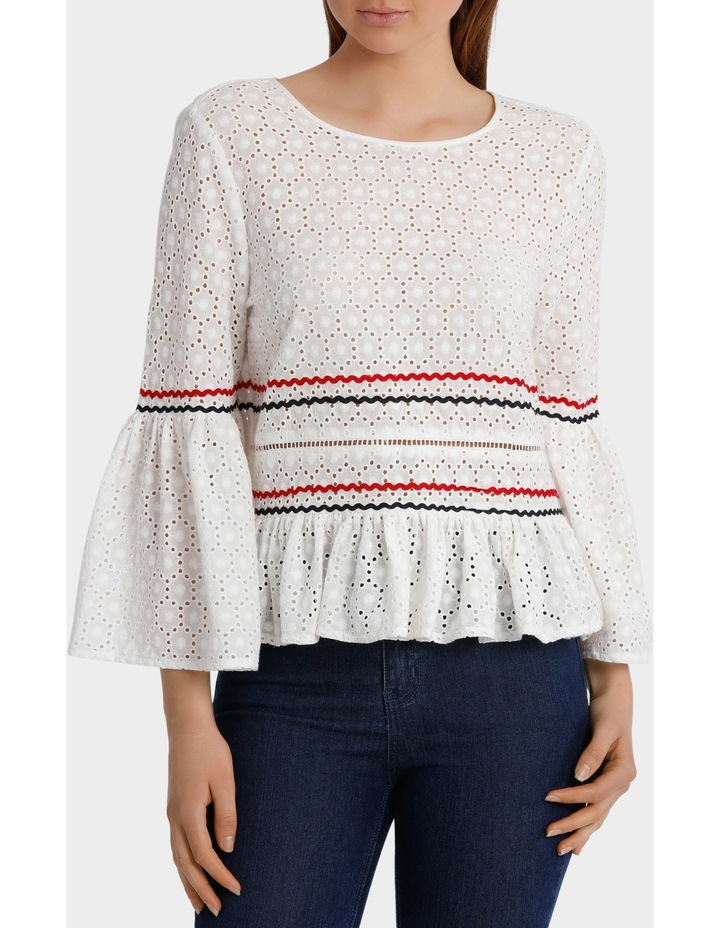 Top with Rik Rack Embroidery image 1