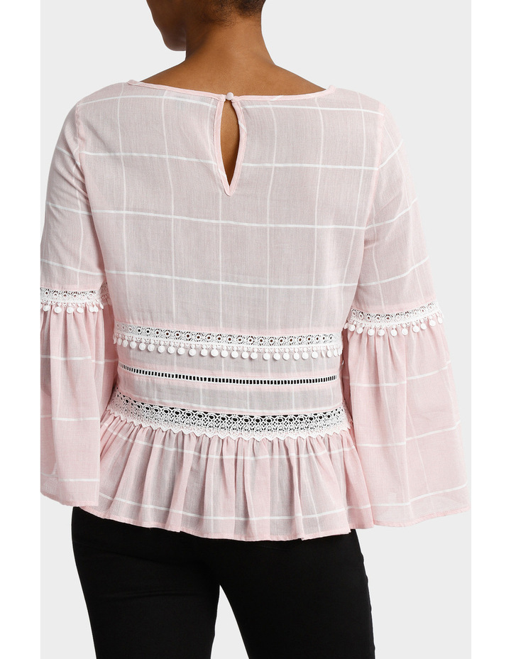 Check Top with Embroidery image 3
