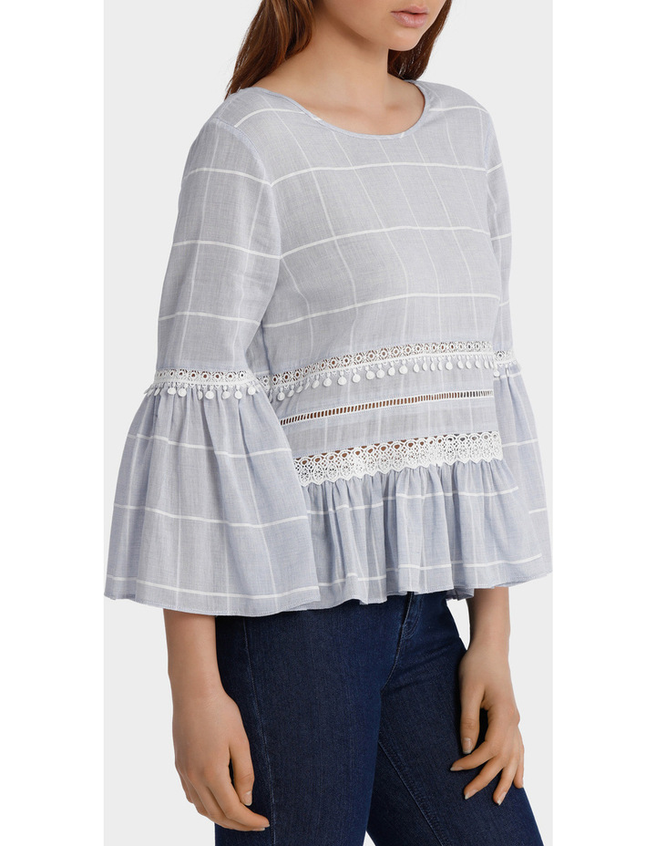 Check Top with Embroidery image 2