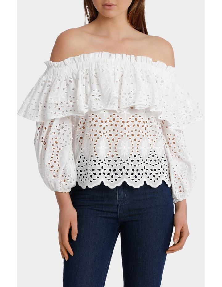 Off Shoulder Top with Full Sleeve image 1