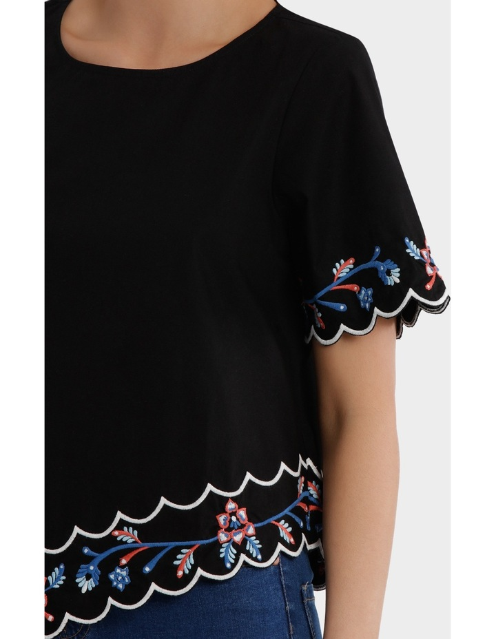 Embroidered Short Sleeve Top image 4