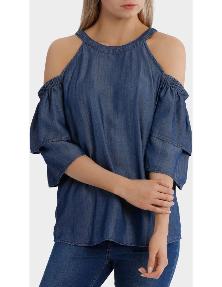 Top cold shoulder tencel image 1