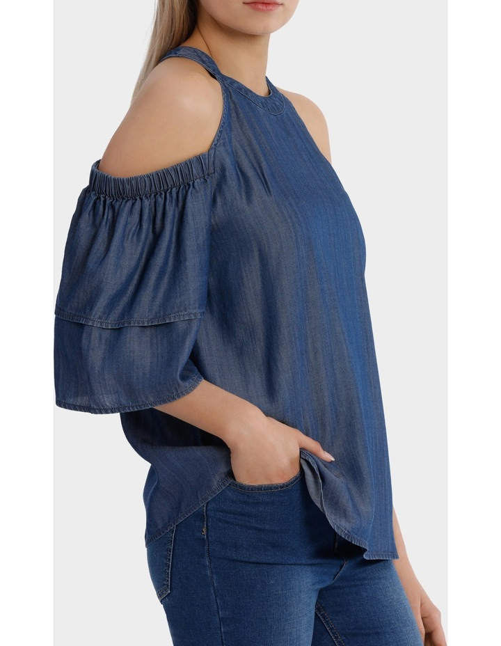 Top cold shoulder tencel image 2