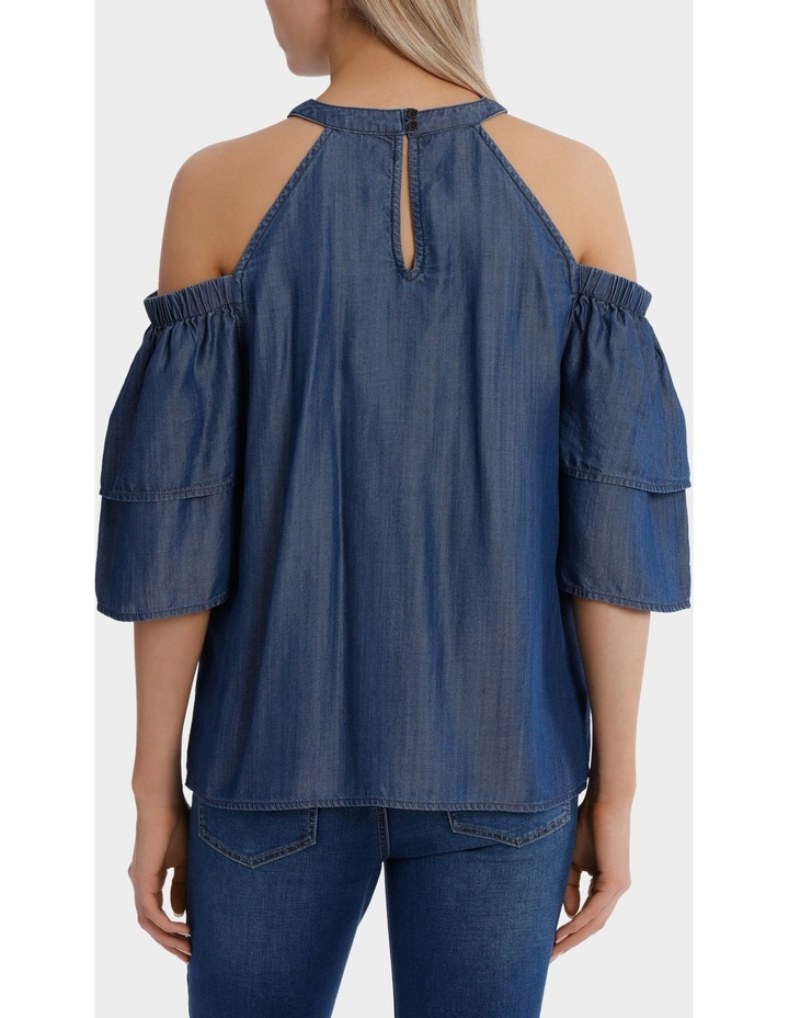 Top cold shoulder tencel image 3