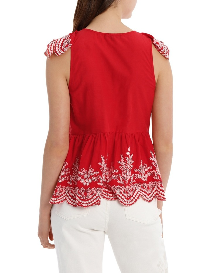 Top with Ruffle Embroidery image 3
