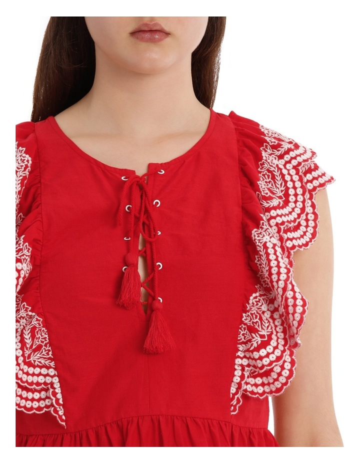 Top with Ruffle Embroidery image 4