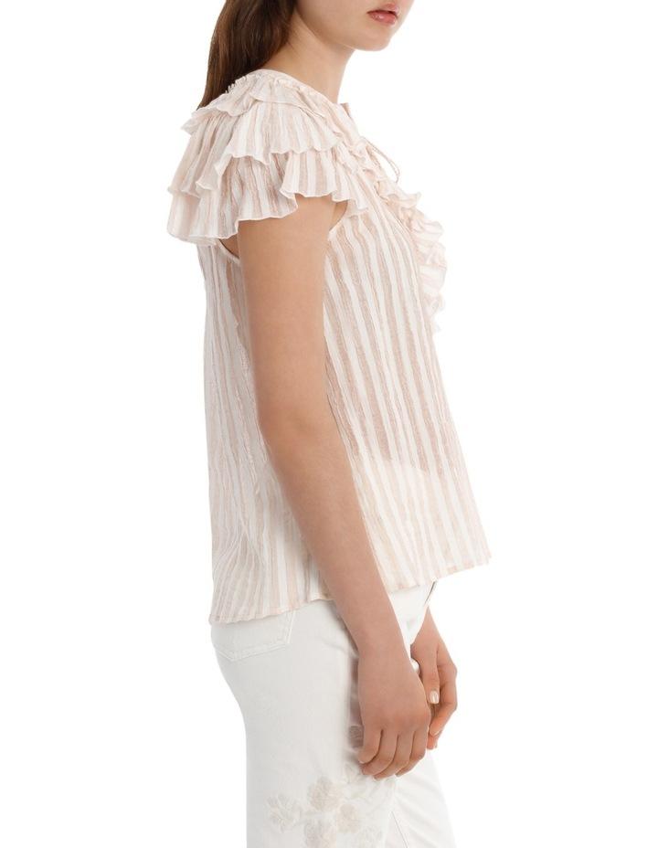 Top Stripe ruffle yoke image 2