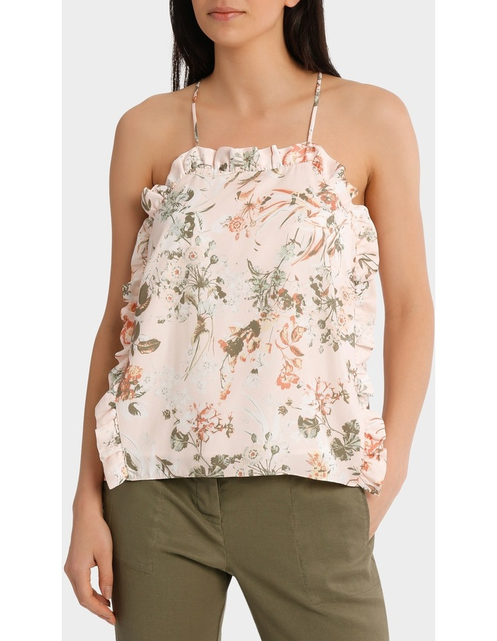 Top Cami with side ruffle image 1