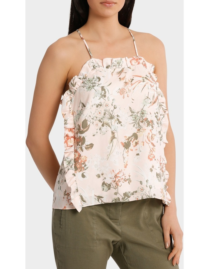 Top Cami with side ruffle image 2