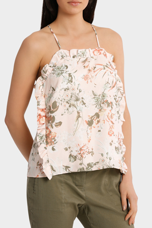 Piper - Top Cami with side ruffle