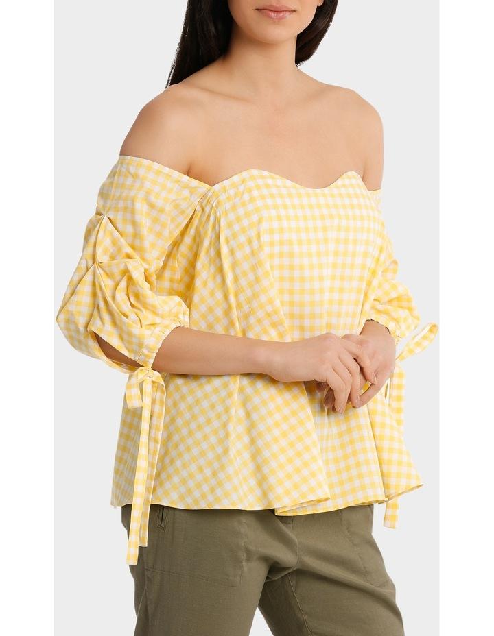 Top off shoulder tie  on sleeve image 1