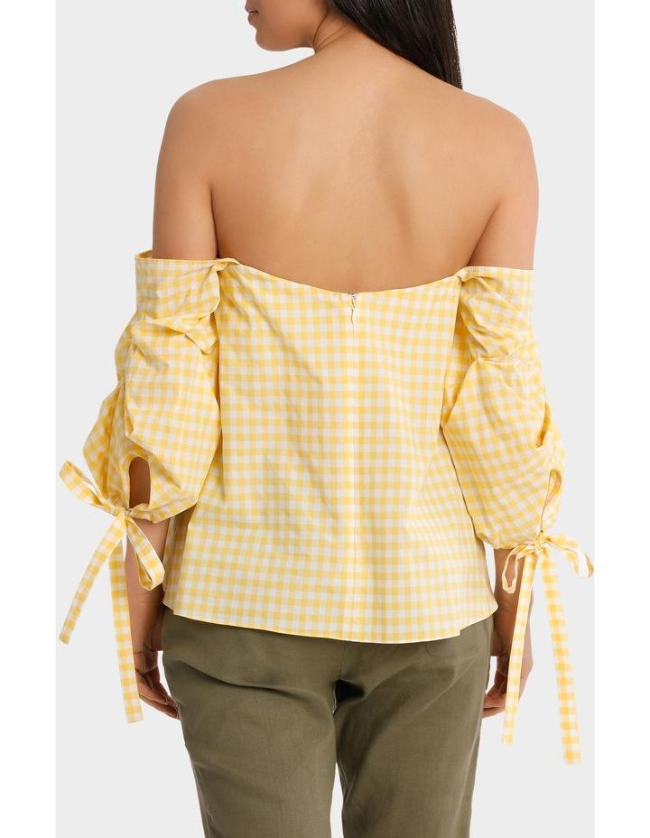 Top off shoulder tie  on sleeve image 3