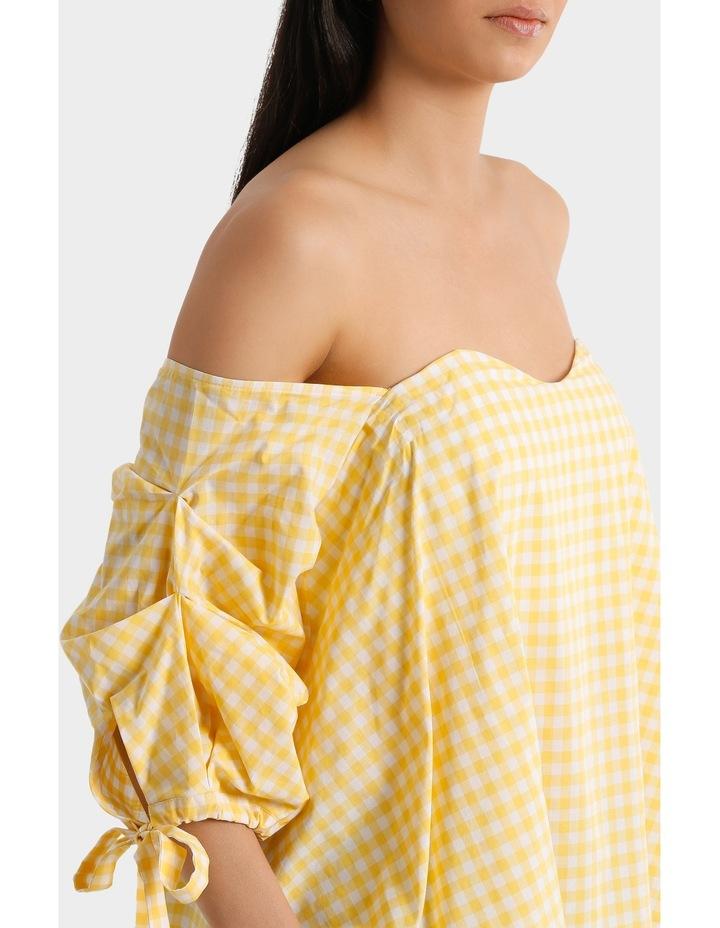 Top off shoulder tie  on sleeve image 4
