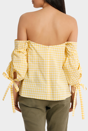 Piper - Top off shoulder tie  on sleeve