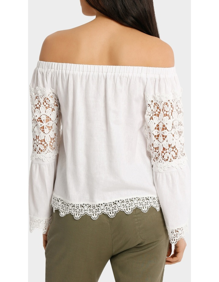Top white fancy lace and full sleeves image 3