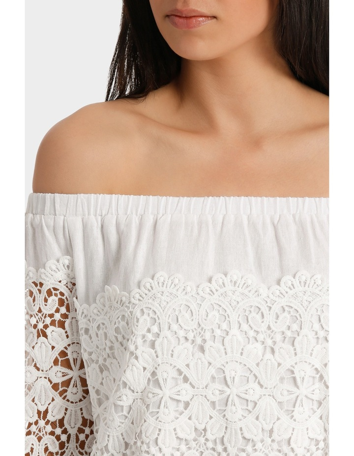 Top white fancy lace and full sleeves image 4