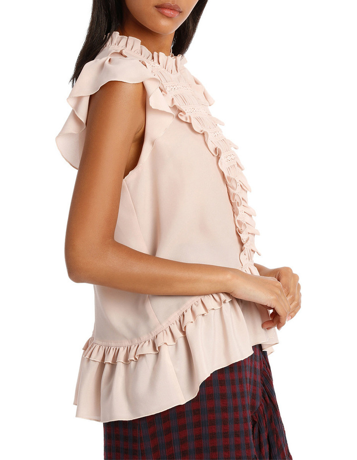 Top Short Sleeve and Lace Insert image 2