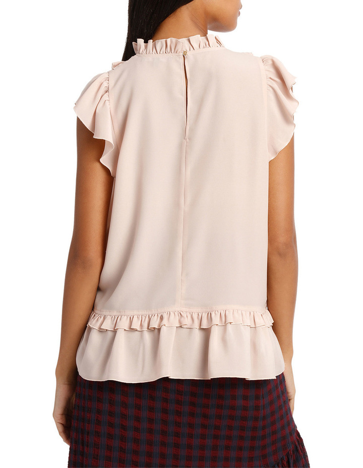Top Short Sleeve and Lace Insert image 3