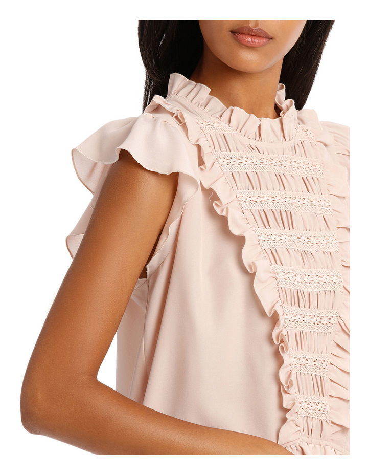 Top Short Sleeve and Lace Insert image 4
