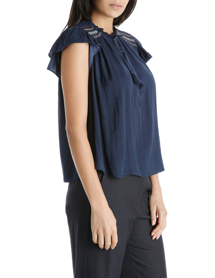 Top Short Sleeve With Smocking image 2